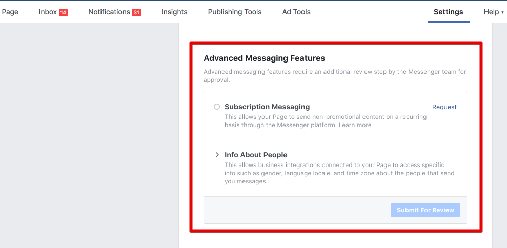 Image result for advanced messaging features facebook